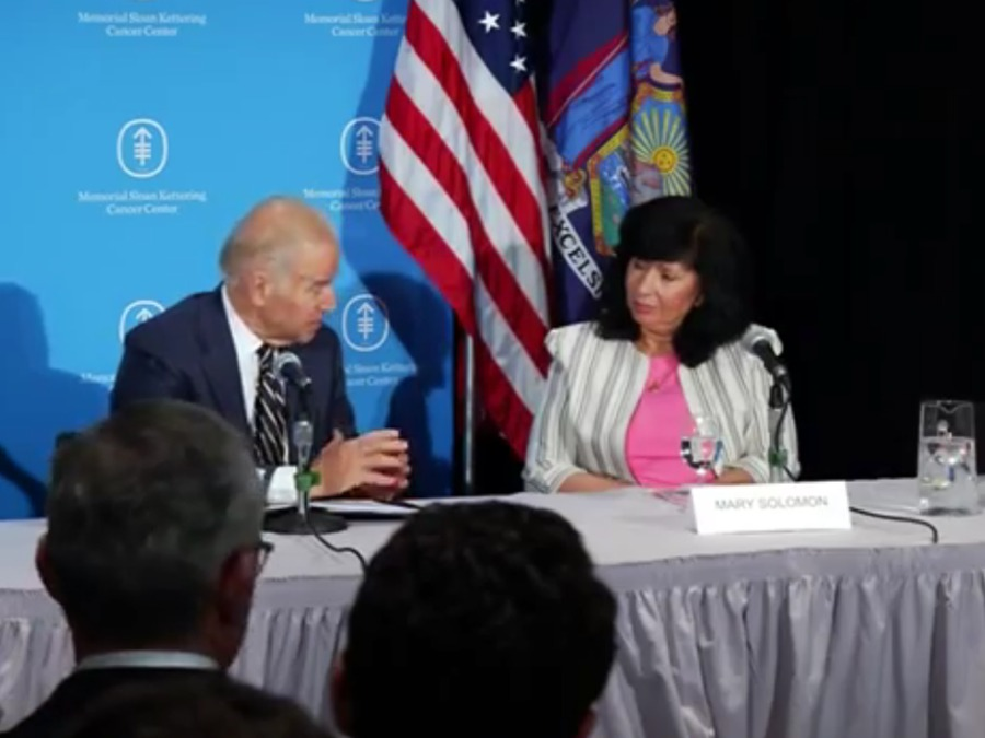 Mary Solomon and VP Biden Moon Shot Initiative 5-2016