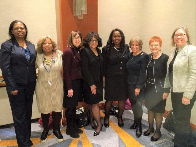 Hon. Sylvia Hinds-Radix on receiving the New York State Bar Association's Diversity Trailblazer Award on Jan. 14, 2019