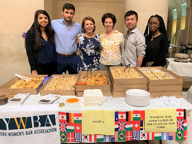 Caren Aronowitz Program JALBCA Table at the New York County Supreme Court on June 28, 2019