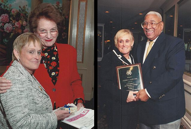 Left: Sandra C. Katz & Hon. Judith Kaye Right: Sandra C. Katz & Hon. William C. Thompson