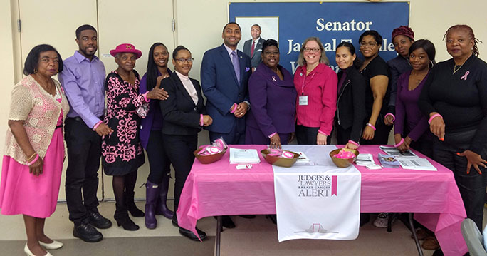 Group photo at Sen. Bailey's Breast Cancer Event 10.27.19