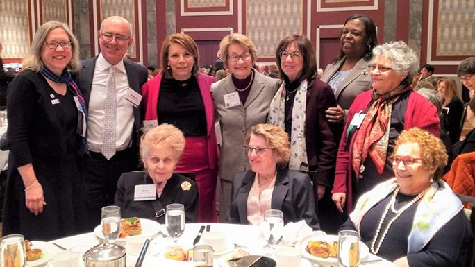 Hon. R. Richter & JALBCA Leaders at 1.31.20 Judicial Section Lunch