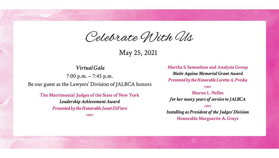 Jalbca Gala May 3 2021 Invitation