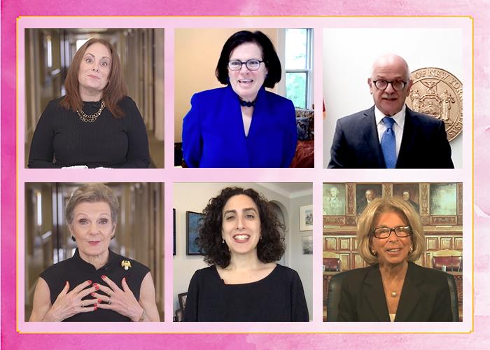 Sharon Nelles, Martha Samuelson, Hon. Jeff Sunshine, Hon. Loretta Preska, Jaci Flug, Hon. Janet DiFiore
